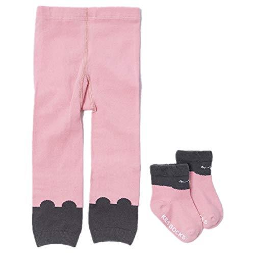 WESIZER Baby Girls Cotton Cartoon Stretch Long Leggings Tight Pants with Socks