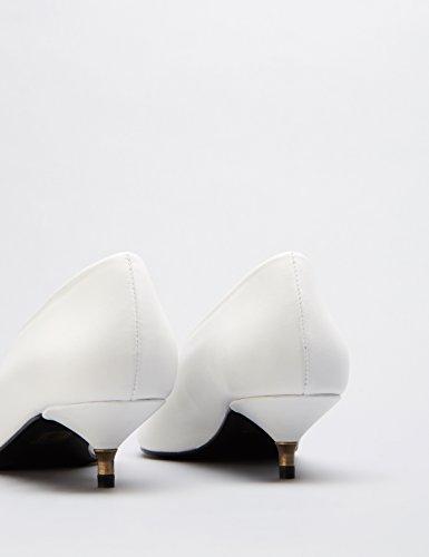 Femme Blanc Petits Escarpins FIND White Talons twaSgp6q