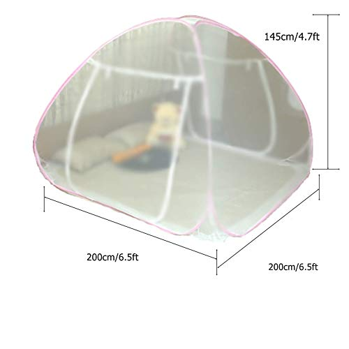 Classic Mosquito Net, King Size Bed, Foldable Polyester – White.