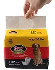 Dono Luiers voor honden, hygiënisch, absorberend, zacht en fris, geurloos, voor gebruik en verwijdering, verkrijgbaar in 4 maten (M-40 stuks)