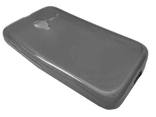 For Alcatel A464BG Soft TPU Crystal Skin Protective Case Phone Cover + Happy Face Phone Dust Plug (TPU ()
