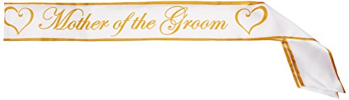 Mother Of The Groom Satin Sash Party Accessory (1 count) (1/Pkg) ()