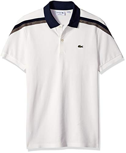 fa04d1bb Lacoste Men's Short Sleeve Slim Fit Made in France Pique Polo ...