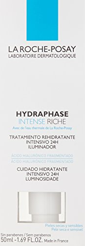 La Roche-Posay Hydraphase Intense Riche 24-Hour Intense Rehydration Moisturizer for Dry Skin with Hyaluronic Acid, 1.69 Fl. Oz.