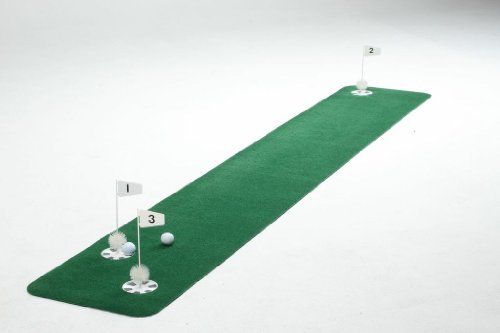 (StarPro's Pro-Am 3-Hole Practice Green. Rolls Out Perfectly Flat, True & Realistic 1.5'x9')