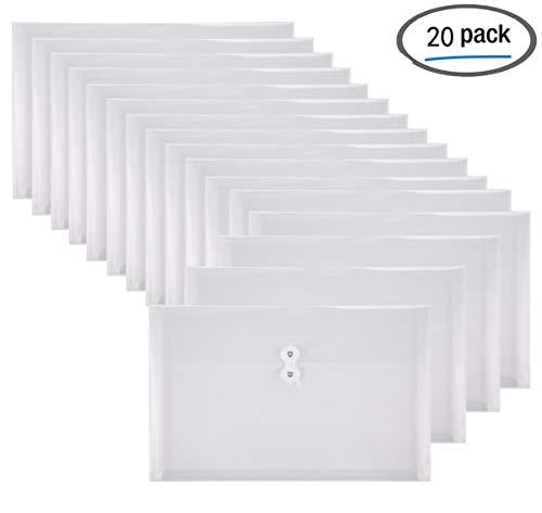 YoeeJob 20 PCS Plastic Envelopes with String