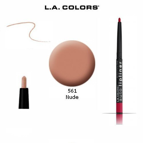 Retractable Lip Liner Pencil (3-Pack L.A. Colors Auto Lip Liner Pencil Retractable 561 Nude)