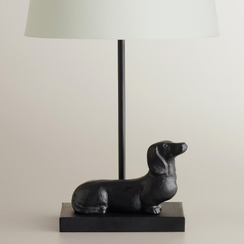Dachshund-Accent-Lamp-Base-A-fun-treat-for-dog-lovers-everywhere-our-Dachshund-Accent-Lamp-Base-is-crafted-in-India-of-metal-with-a-delightful-dachshund-at-its-base-With-a-simple-neck-thats-ideal-for-