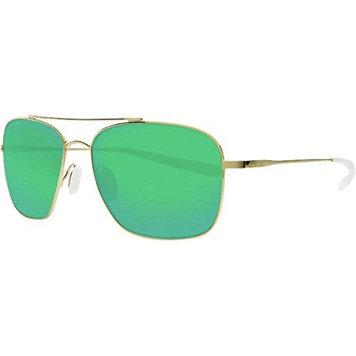 Costa Del Mar Costa Del Mar CAN126OGMGLP Canaveral Green Mirror 580G Shiny Gold Frame Canaveral, Shiny Gold Frame, Green Mirror 580G, One Size