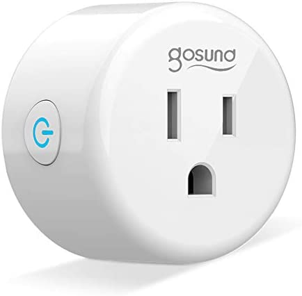 Smart Plug Gosund Smart Wifi Outlet Compatible with Alexa and Google Home, 2.4G Wifi Only, No Hub Required, ETL and FCC Listed 1 Pack [Upgraded Version]
