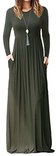 Dark Comfy Long Dress Sleeve Solid Color Swing Pleated Long Gray Women Cromoncent Hipster aU4FF
