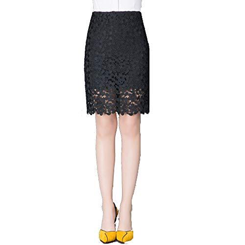 AINIF 2018 Automne Taille Haute, Lace Envelopp Hip Jupe Demi - Longueur Longueur Moyenne Jupe. 6628 Noir