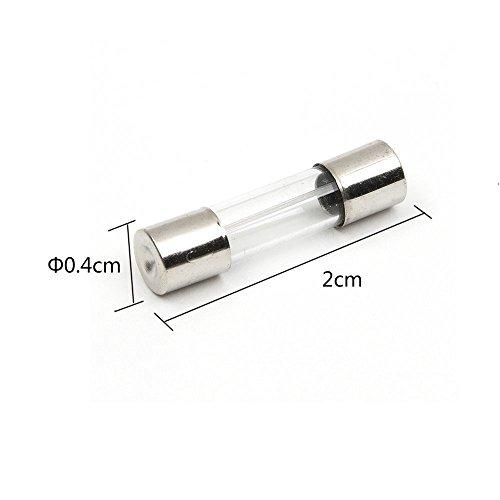 on sale Lot de 100pcs Fusible 5x 20mm Fusible en verre Tube de verre assortierte Kit Amp 0.2A skywalker-15a + Boîte de rangement