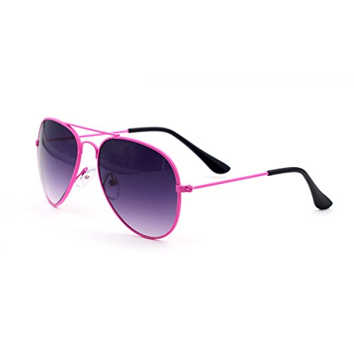 Xinmade Kids Aviator Sunglasses 100% UV Protection For Boys And Girls Age 3-10 (Pink Frame, Gray - Sunglasses Buy Kids