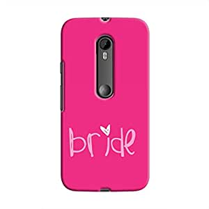 Cover It Up Pink Bride Hard Case For Moto G3 - Pink