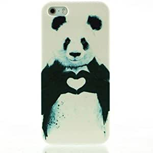 Cool Painting Rayshop - Heart Panda Pattern Hard Case for iPhone 5/5S