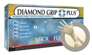 Diamond Grip Plus Latex Gloves X-L Case by Microflex