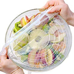 (12-Pack various sizes Reusable, Durable and Expandable Airtight Silicone stretch lids for cover cups cans, plates, mugs, cups to keep your food fresh, fit all shaped bowls.)