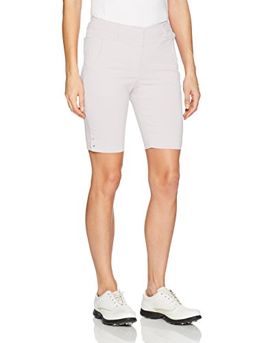 Bette Court Golf Apparel - Bette & Court Womens Flex Smooth Fit Short, White, 18