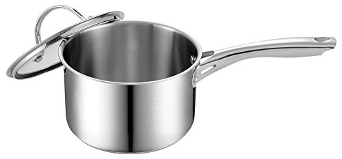 rt Stainless Steel Saucepan with Lid ()