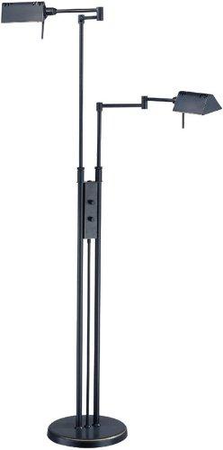 Metal Floor Lamp Ls (Lite Source LS-974D/BRZ Pharma Collection Floor Lamp with Metal Shade, 37.5