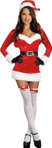Dreamgirl Women's Santa Baby Costume, Red, Extra