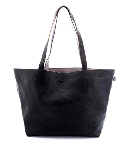 Bed|Stu Women's Charlotte Leather Tote (Black Grey Rustic) ()
