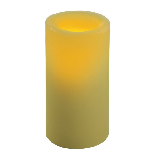 Sterno Home Inglow 6-Inch Flameless Round Pillar Citrus Sage Scented Candle with Timer, ()