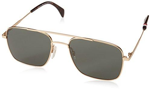 Tommy Hilfiger Men's Th1537s Square Sunglasses, SMTT GOLD, 55 mm (Tommy Hilfiger Sunglasses For Men In India)