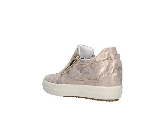 Taupe in Fondo Primavera Colore Pelle Laminata amp;CO Zip con 1149944 2018 IGI Collezione Nuova Estate Donna Gomma 11499TAUPE DSY Sneakers TO0Rn8