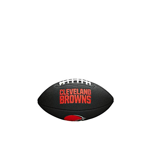 NFL Team Logo Mini Football, Black - Cleveland Browns