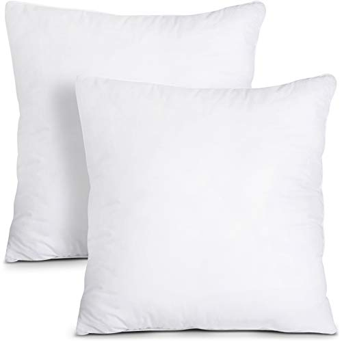 Utopia Bedding Throw Pillows Insert (Pack of 2, White) - 18 x 18 Inches Bed and Couch Pillows - Indoor Decorative Pillows (18 Pillow Insert)