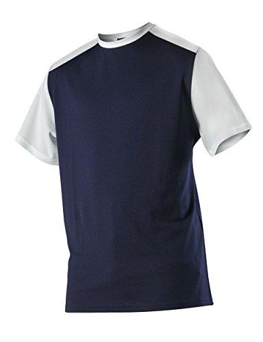 Alleson Baseball Jersey - Alleson Ahtletic Men's Mock mesh Baseball Jersey, Navy/White, Medium