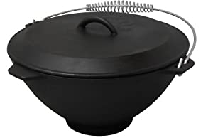 King Kooker 5911S Seasoned Cast Iron Pot and Lid, 2.75-Gallon by Metal Fusion, Inc.