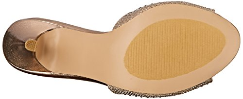 Fabulicious Women's LUCY01/Ggfa Dress Sandal, Gold Glitter Mesh Fabric, 8 M US