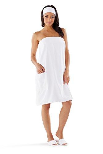 Boca Terry Women's Spa Wrap - Microfiber - White - One Size ()