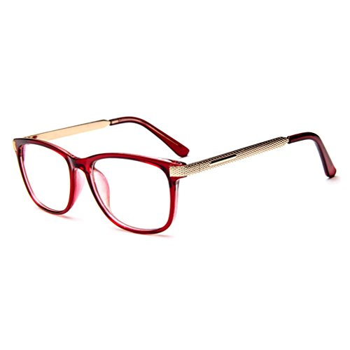 LOMOL Unisex Fashion Classic Retro College Style Transparent Clear Lens Frame - Bans Rey