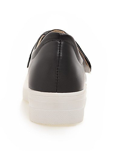 Eu36 us6 us8 negro Cn39 De Eu39 casual Zq Redonda Gyht Zapatos Blanco plataforma Mujer Uk4 semicuero Brown Black Cn36 mocasines Marrón Uk6 punta w6RFqnxH6