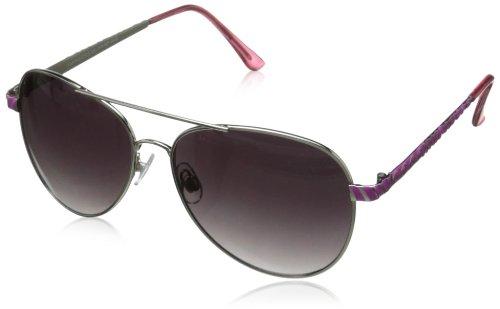 XOXO Women's Forum Iridium Aviator Sunglasses,Pink,13 - Xoxo Sunglasses
