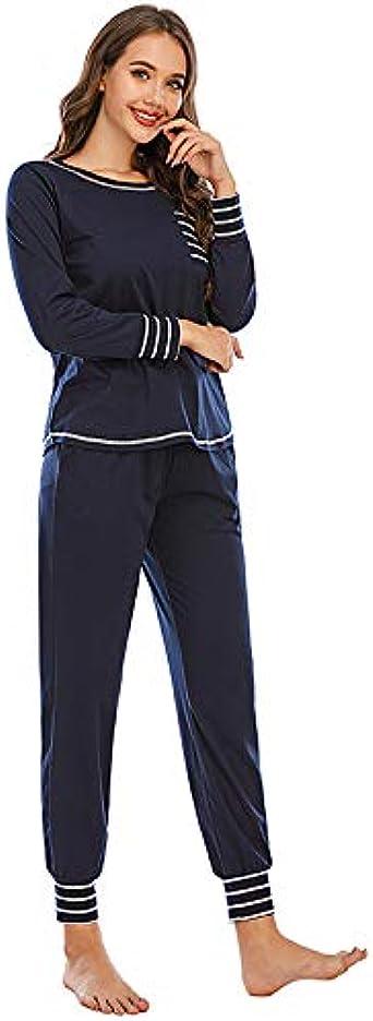 Pantalones de Manga Larga a Rayas para Mujer Conjunto de ...