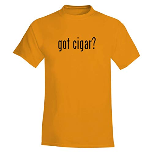 The Town Butler got Cigar? - A Soft & Comfortable Men's T-Shirt, Gold, Small