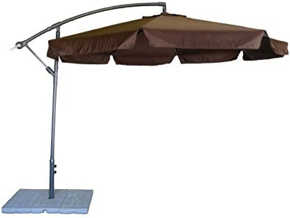 Styled Shopping 10 Foot Brown Cantilever Offset Umbrella