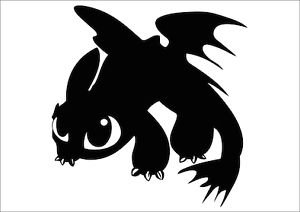 How to Train Your Dragon Baby Toothless Car Vinyl Jdm Decal Sticker Car Window Wall Macbook Notebook Laptop Sticker Decal