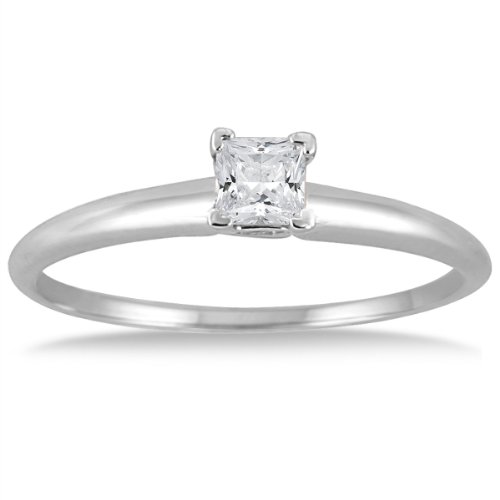 110-Carat-Princess-Diamond-Solitaire-Ring-in-14K-White-Gold-J-K-Color-I2-I3-Clarity
