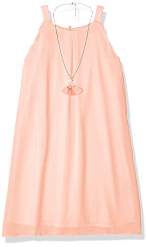 (Amy Byer Girls' Big Scalloped Edge A-Line Dress, Garden Rose 7 )