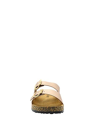 Anna- Femminile T-berk / Doppia Fibbia / Doppio Cinturino / Fibbie Laterali Fibbia / Sandali T-in Oro Rosa / Doppia Fibbia
