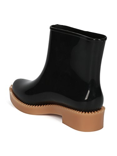 Jelly Boot Melissa Boot HE20 PVC Black Women Beige Edge Jagged Rain Rain Drop qqZO8wE7