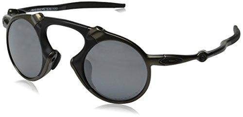 Oakley Men's Madman OO6019-02 Polarized Iridium Round Sunglasses, Pewter, 42 ()