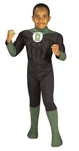 Boys Green Lantern Deluxe Kids Child Fancy Dress Party Halloween Costume, 2T-4T