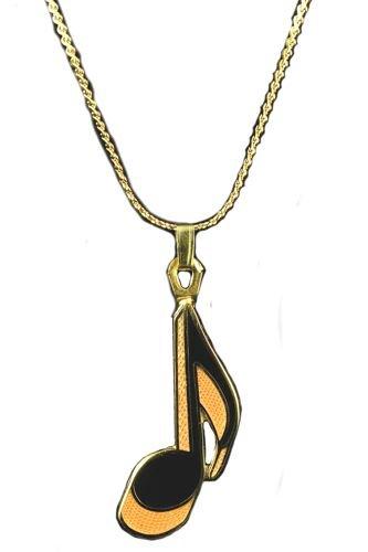 Armonía octava nota 24 K chapado en oro collar: Amazon.es: Instrumentos musicales